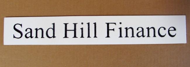 C12233 - Sand Hill Finance High-Density-Urethane (HDU) Sign