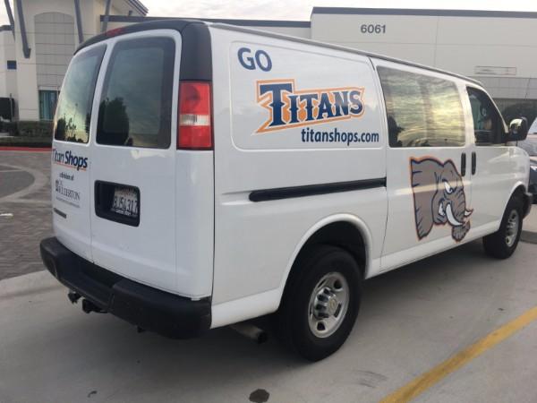 Vehicle graphics for school vans in Fullerton CA