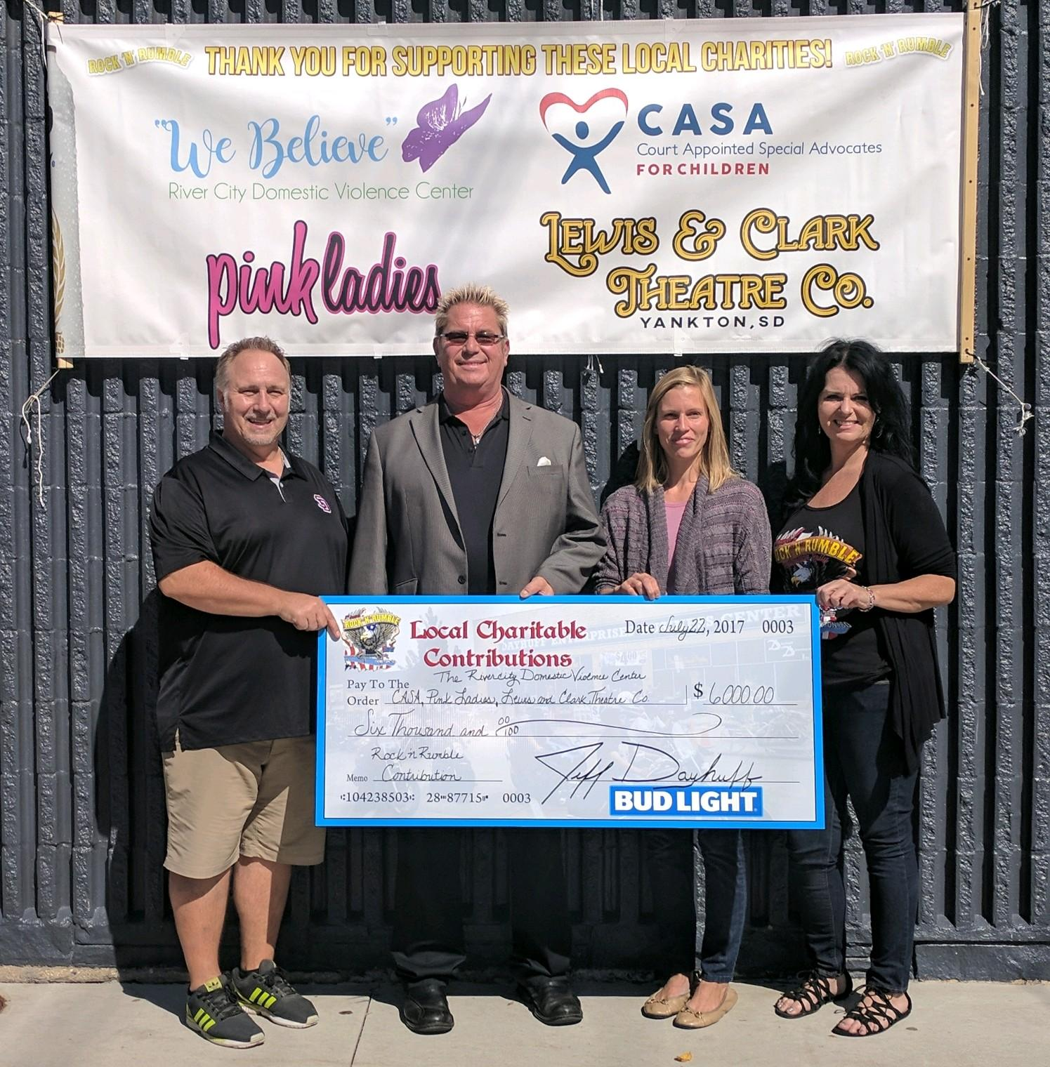 Rock 'N Rumble Donation to CASA