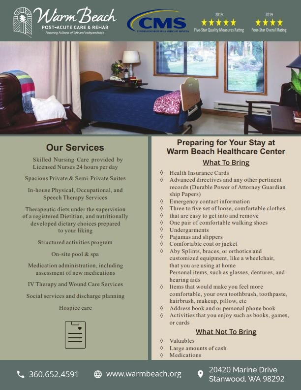 Preparing & During Your Stay at Skilled Nursing