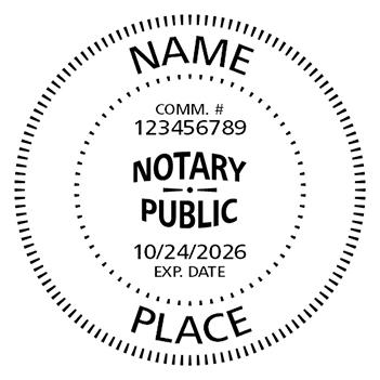 Round S-542 Notary Stamp