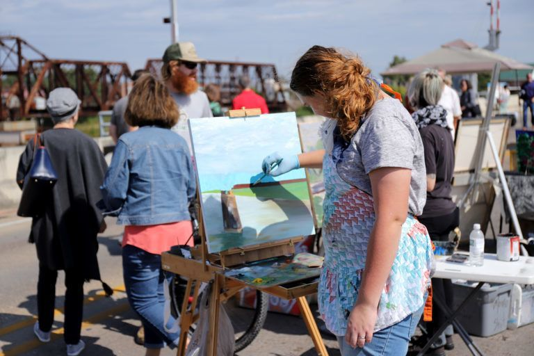 Ouachita River inspires artists at Brew on the Bridge