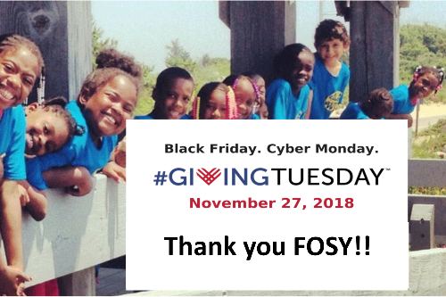 FOSY Outreach Makes Giving Tuesday a Success!