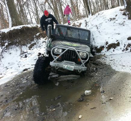 Wheeling in the Jeep