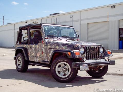 Camo Jeep Wrap