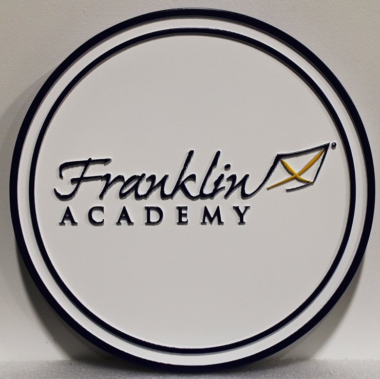 FA15625 - Carved HDU  Franklin Academy Wall Plaque