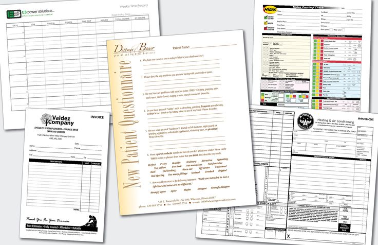 Business & Carbonless Forms