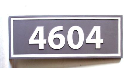 KA20927 - Carved Apartment or Condo Number Address Sign