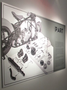 Photograph on aluminum, Harley-Davidson Museum [Milwaukee, WI]