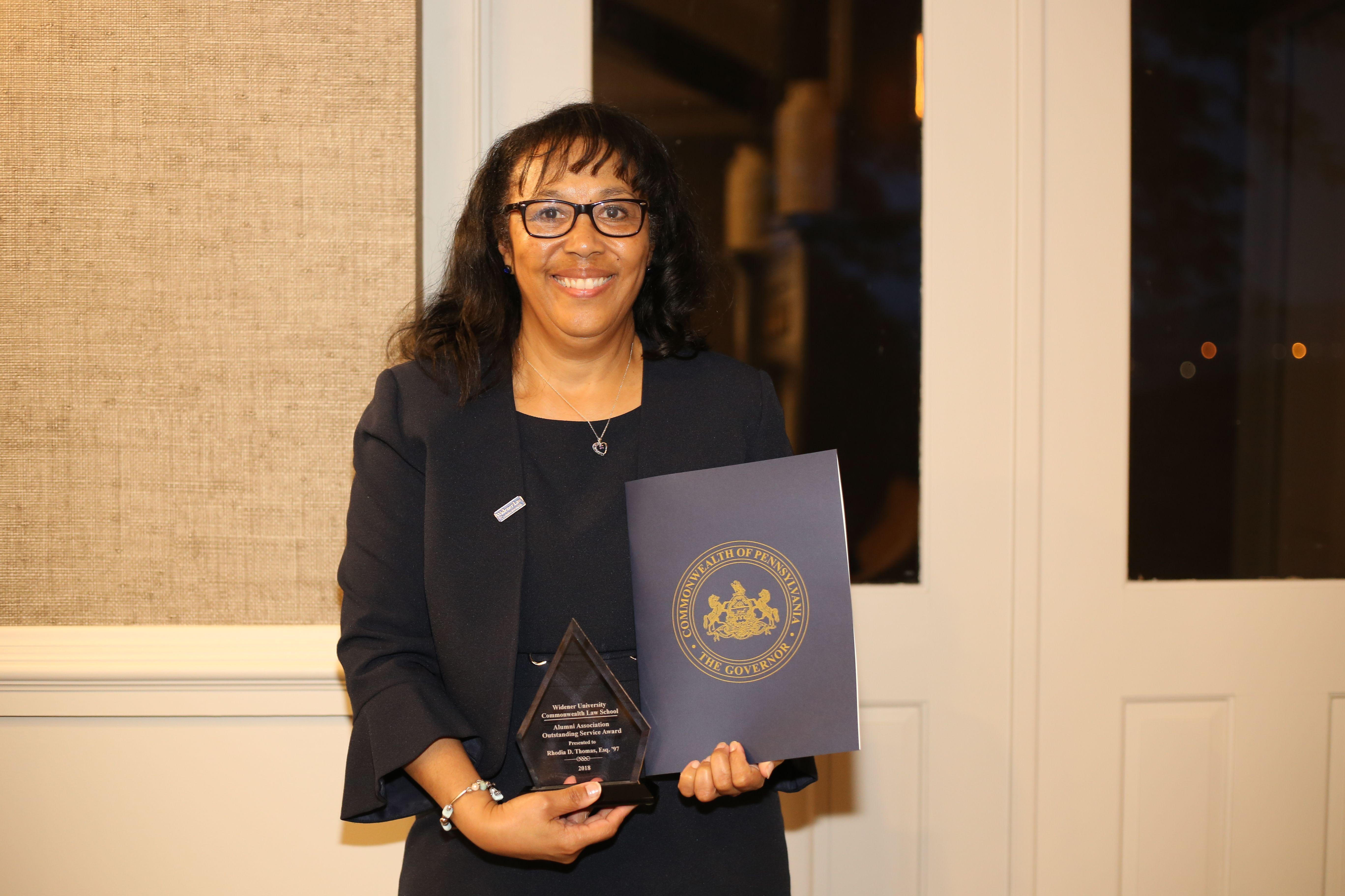 Rhodia Thomas Honored