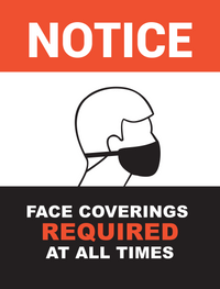 notice/mask required