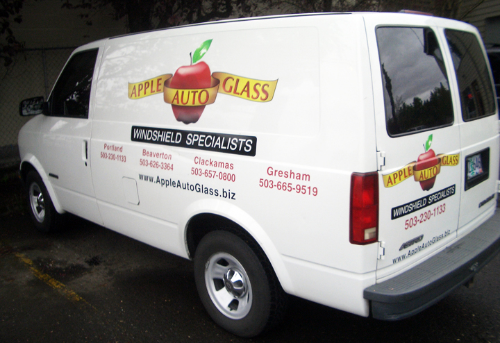 Apple Auto Glass Van Graphics
