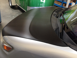 Carbon fiber hood vehicle wraps Orange County