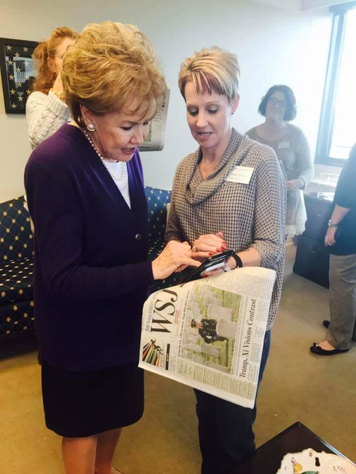 Senator Elizabeth Dole and Shawn Moore