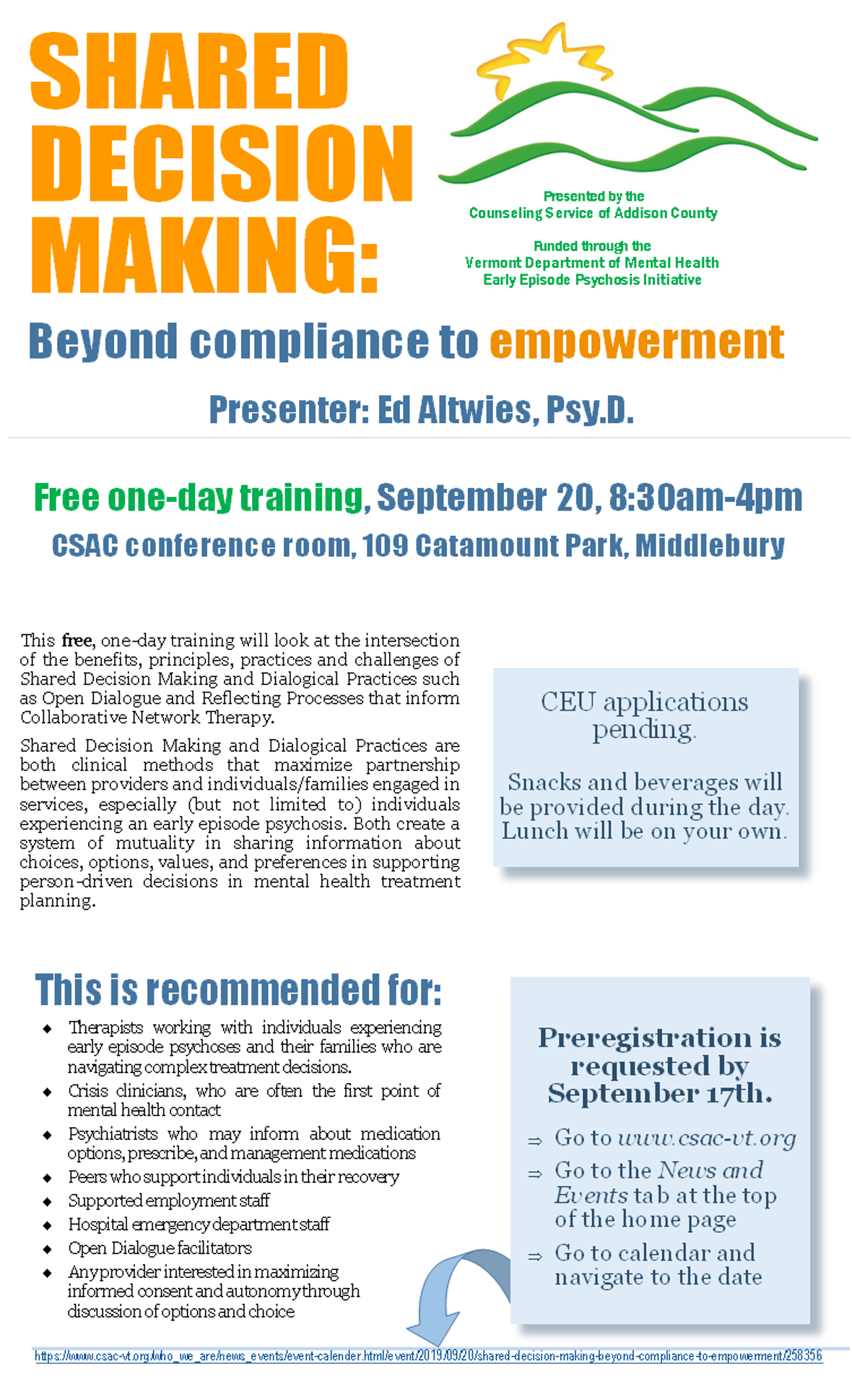 SHARED DECISION MAKING: Beyond compliance to empowerment