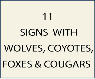 11. M22900 - Signs with Wolves , Coyotes, Foxes, and Cougers (Mountain Lions)