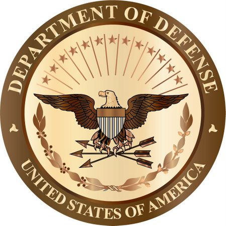 IP-1080- Carved Plaque of the Great Seal, Department of Defense,  Maple Wood