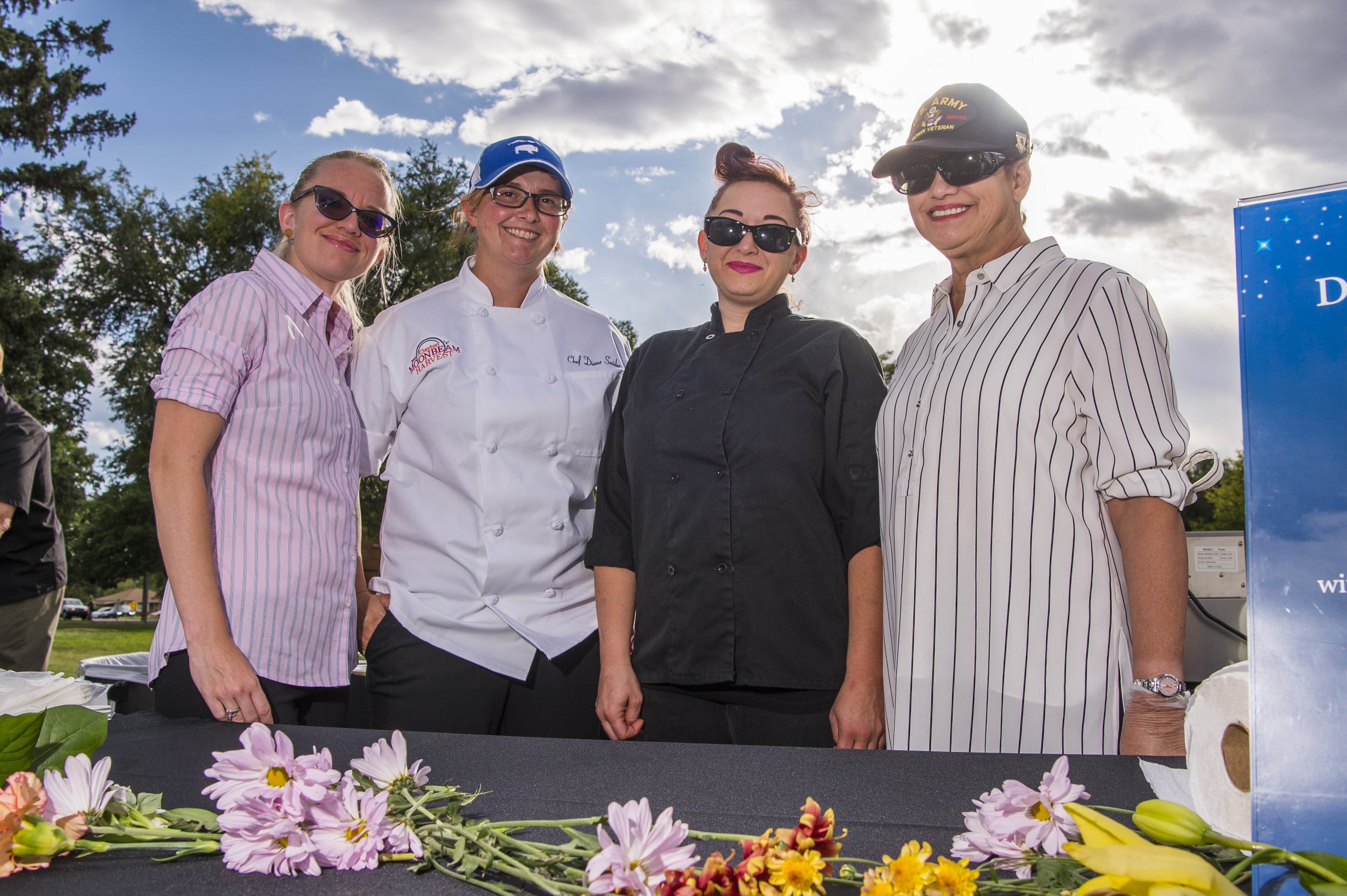 Chef Diane Snider and her team at Moonbeam Harvest 2017