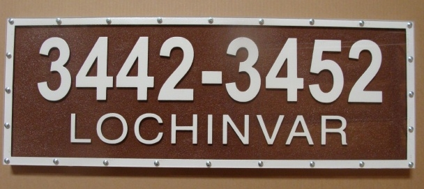 I18895 - Street Address Number Sign