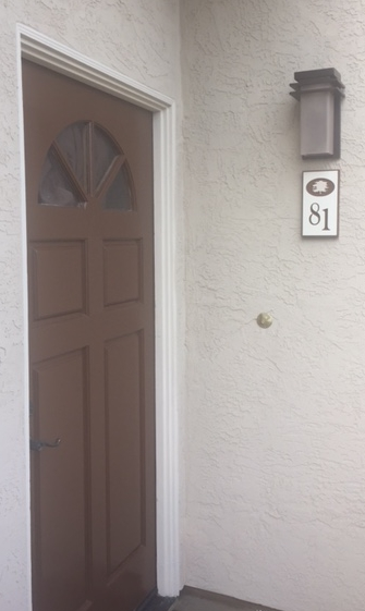 KA20932 - Apartment Number Sign Installed on Wall Adjacent to Door