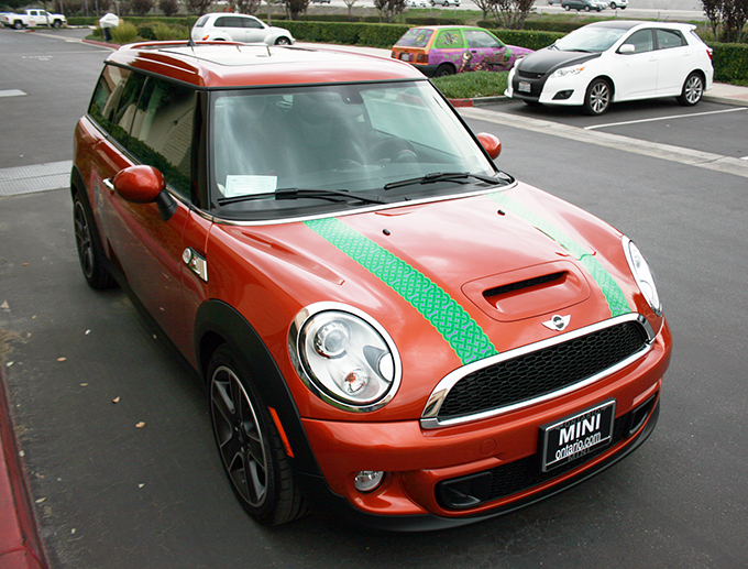 Mini Cooper Celtic Stripes