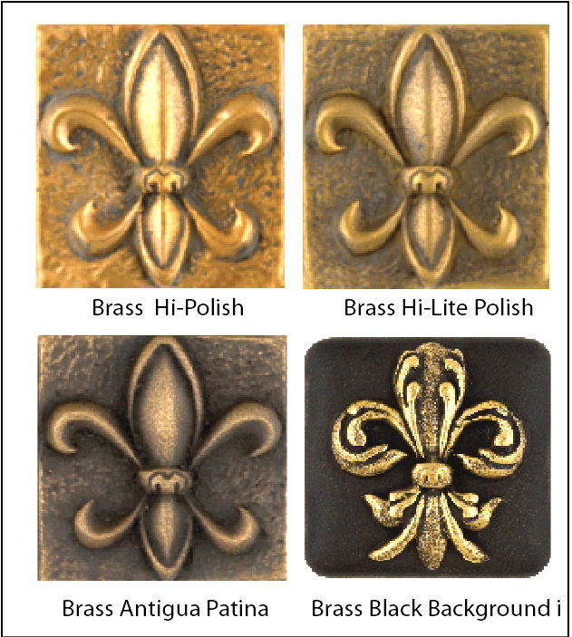M7101- Color & Surface Finish Variations of Brass-Coated Plaques