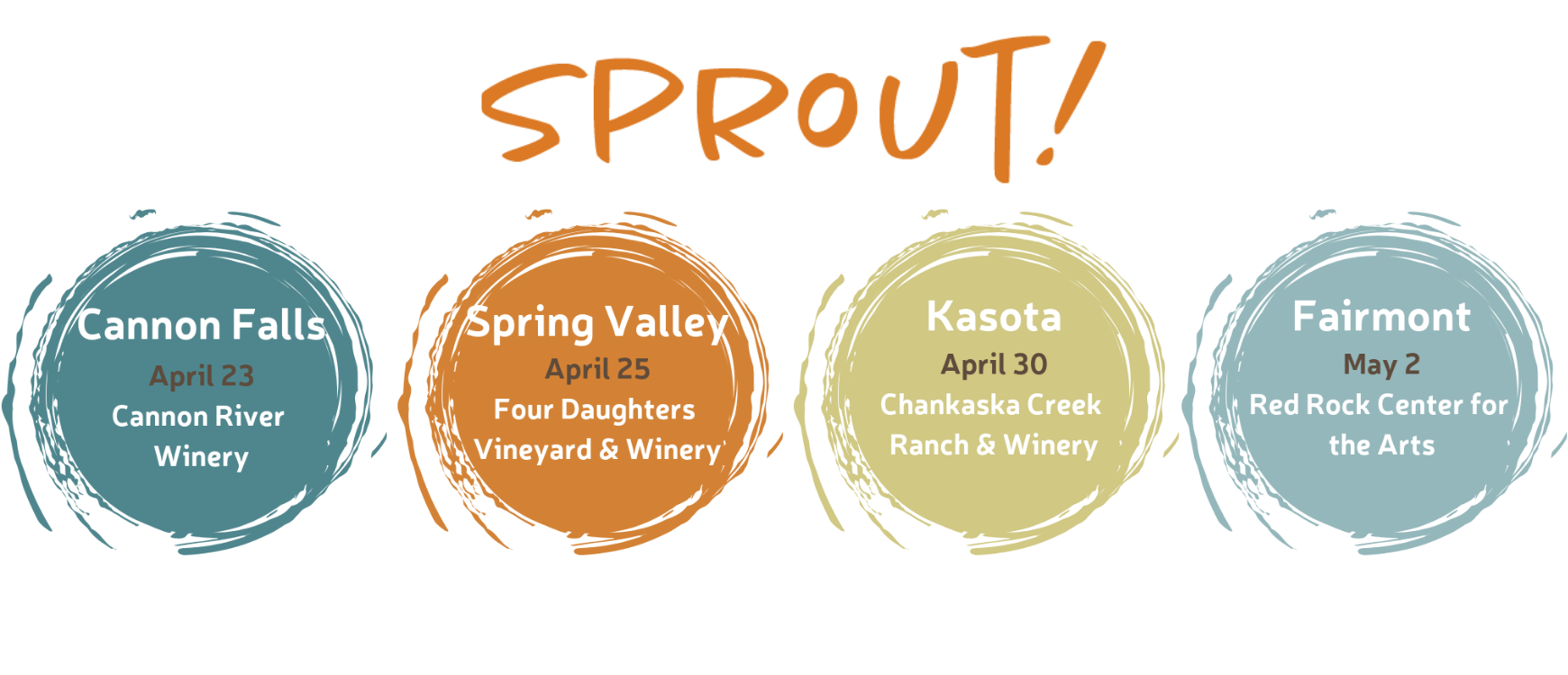 Join us at our 2019 Sprout events!