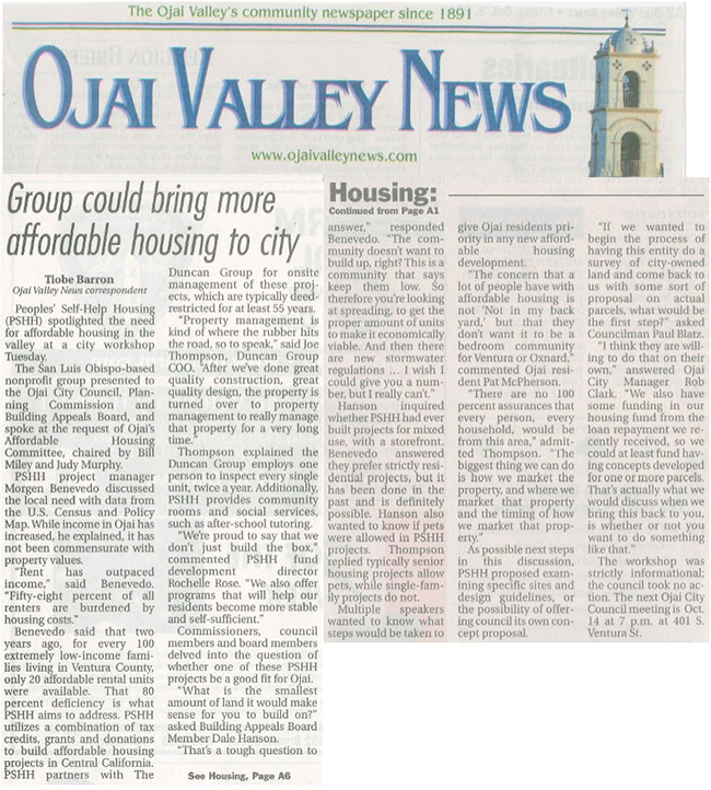 Group could bring more affordable housing to city - Ojai Valley News