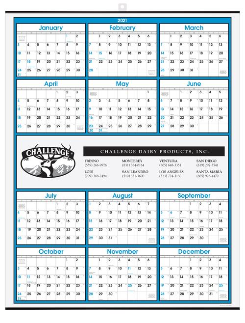 "Year-at-a-Glance Wall Calendar 22"" x 28"" -  Middle Imprint DL-2280M"