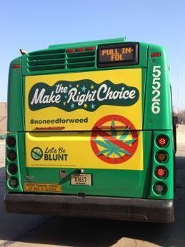 Let's Be Blunt campaign on MCTS bus