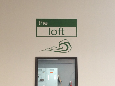 Interior vinyl wall graphics and lettering Orange County