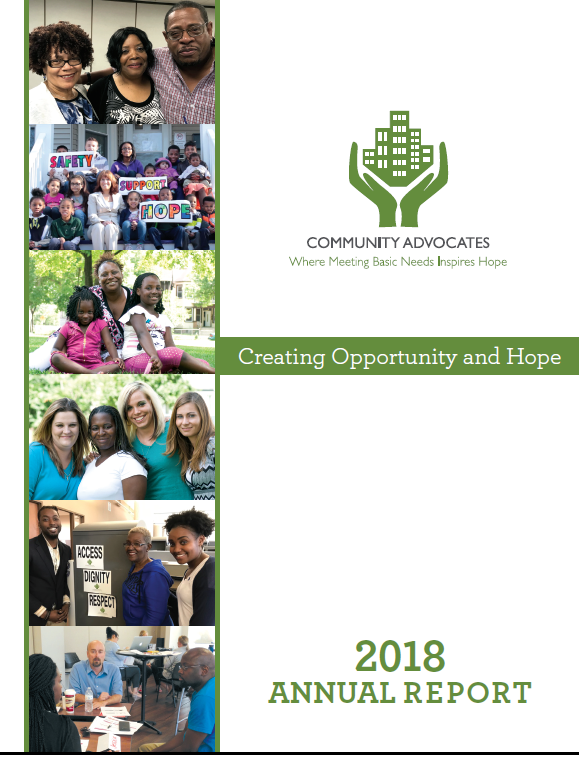 Community Advocates' 2018 Annual Report Is Here!