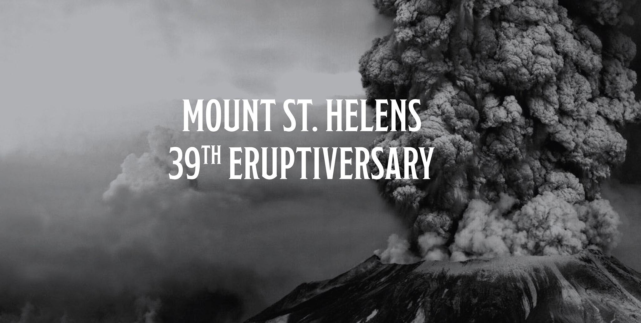 Mount St. Helens 39th Eruptiversary!