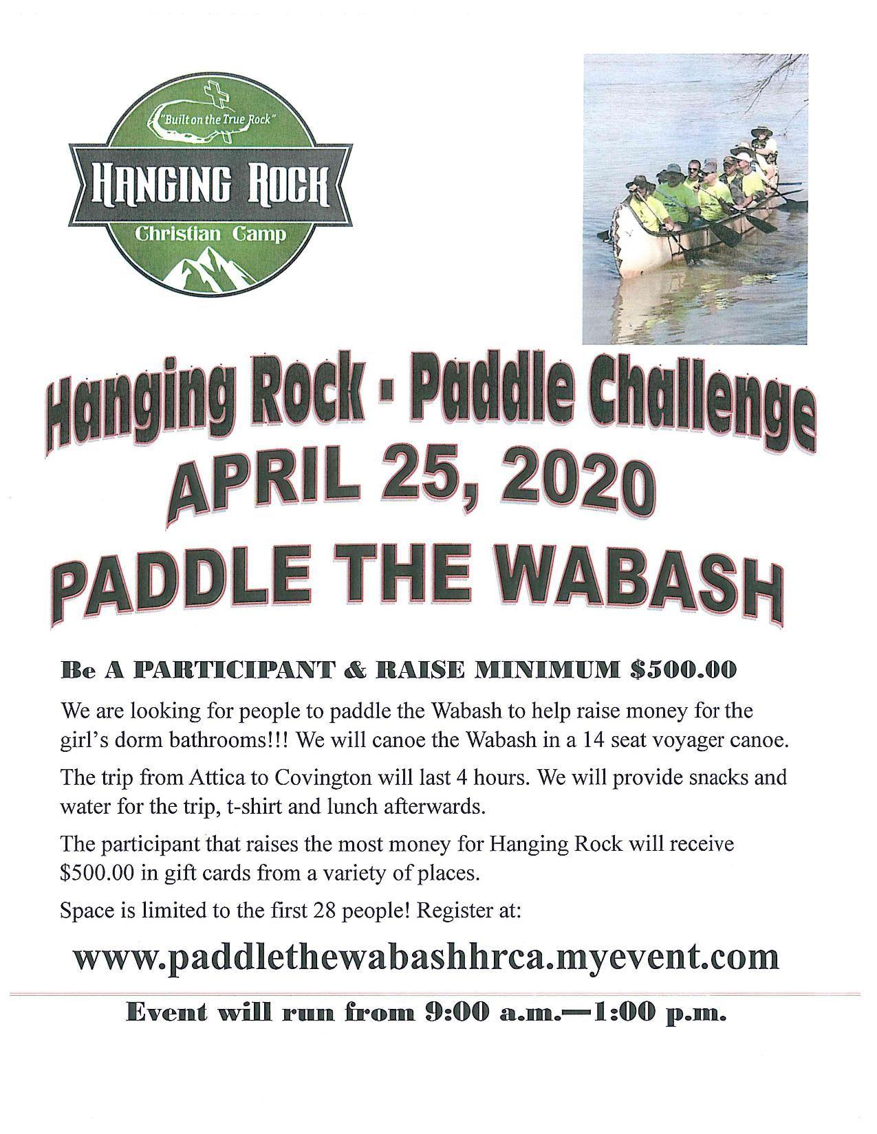 Paddle the Wabash Registration