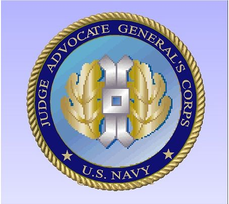 JP-2500 - Carved Plaque of the Seal of the Judge Advocate General Corps (JAG), US Navy,  Artist  Painted and Gold Gilded