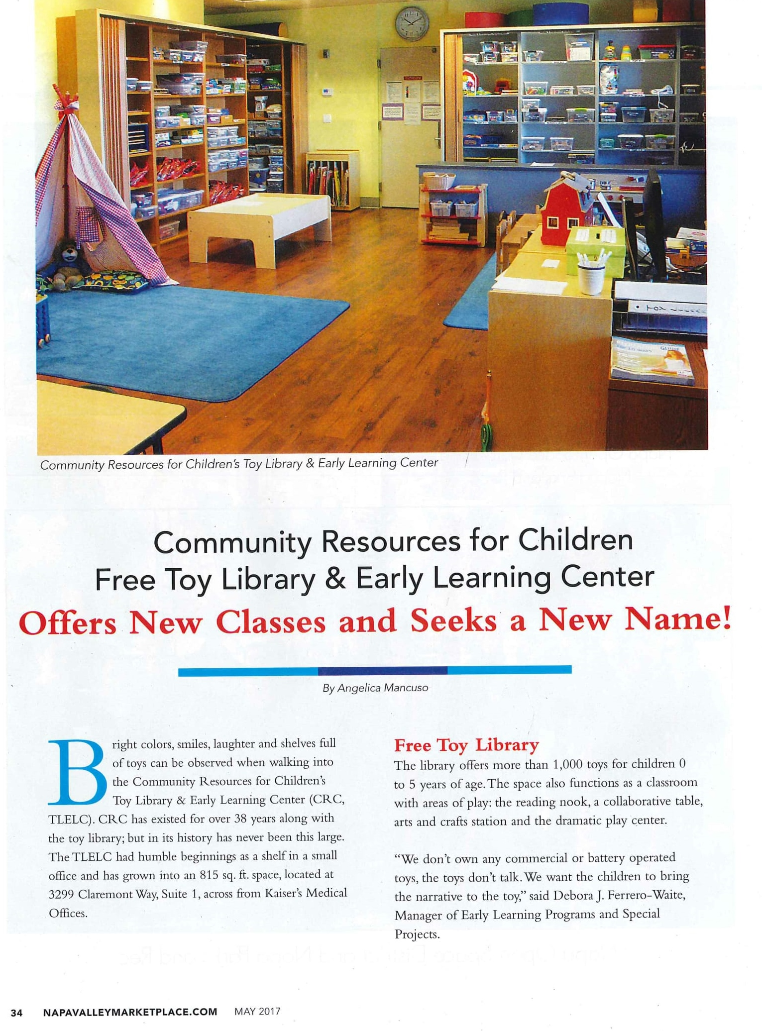 CRC in Marketplace Magazine