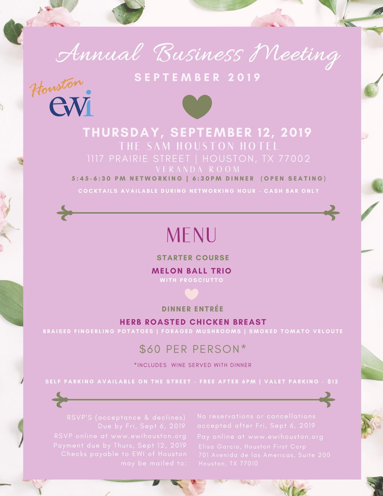 EWI September Meeting