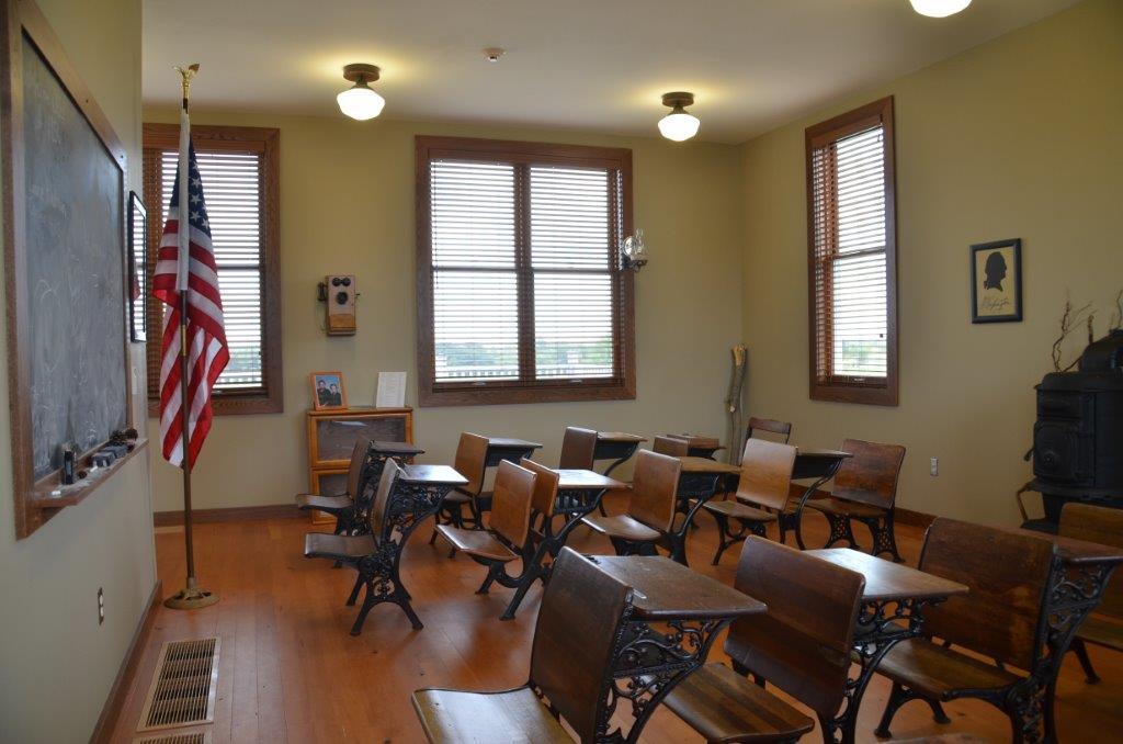Historical classroom desks