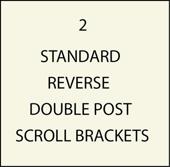 M4200 - Standard Double Post Reverse Scroll Brackets