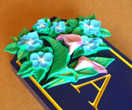 SA28313 - Detail of Carved Flowers for Sign SA28312