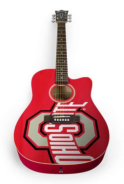 Ohio State Buckeyes Woodrow Acoustic Guitar