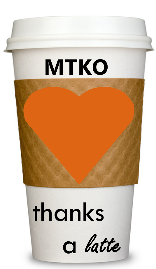 coffee cup with an orange heart