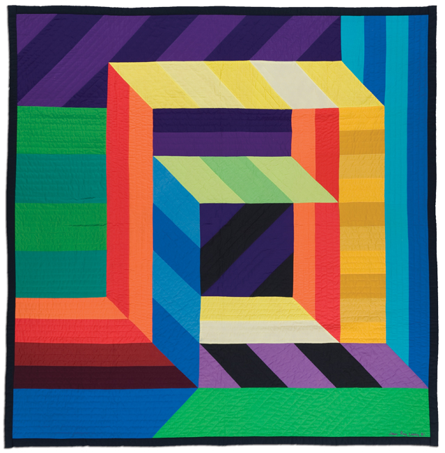 'Boxed Illusion,' 1981, machine pieced, 70.5 x 71 in, IQSCM 2010.014.0024