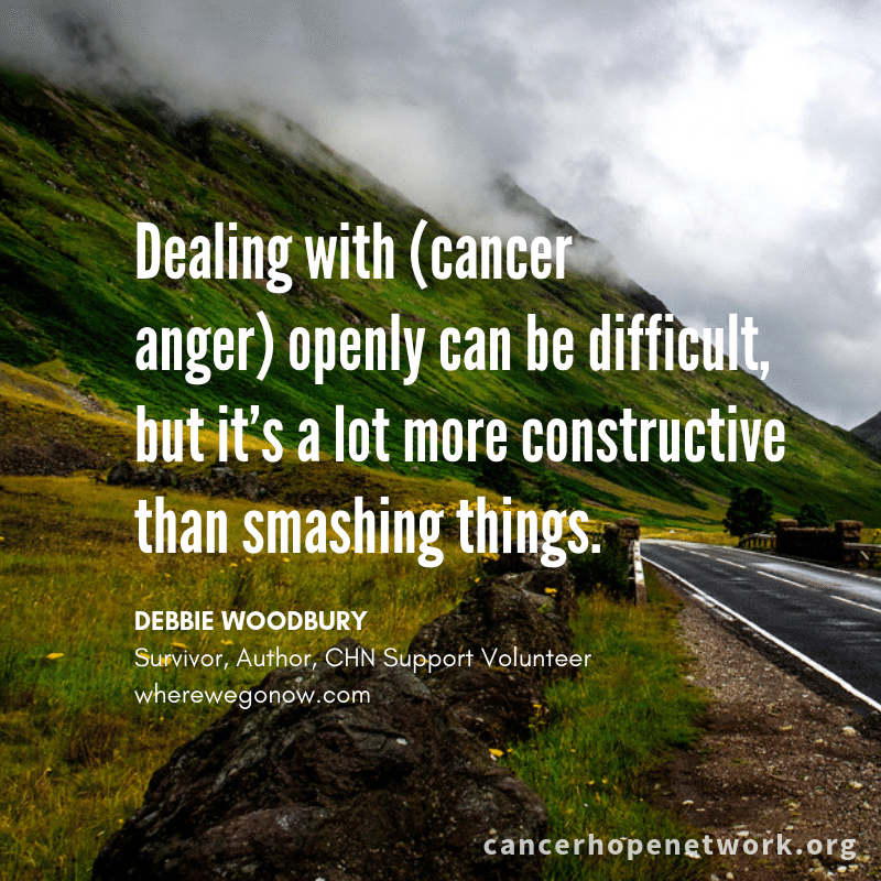 Surviving On Hope: Working through cancer anger