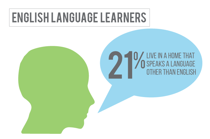 21 percent of children in Saline County Nebraska live in a home where a language other than English is spoken.