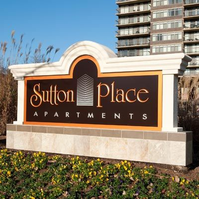 Sutton Place Apartments sign
