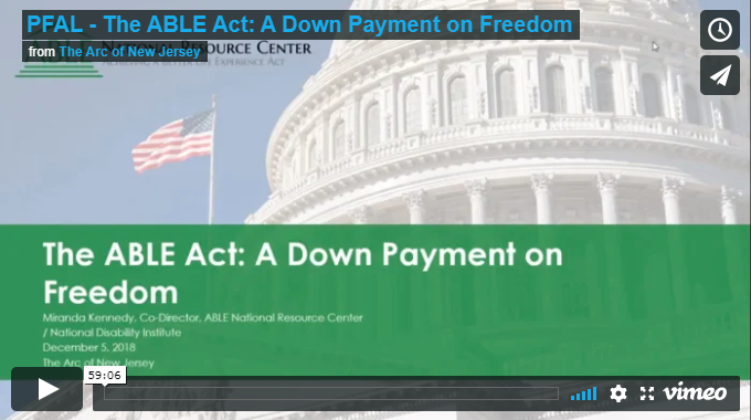 The ABLE Act: A Down Payment on Freedom