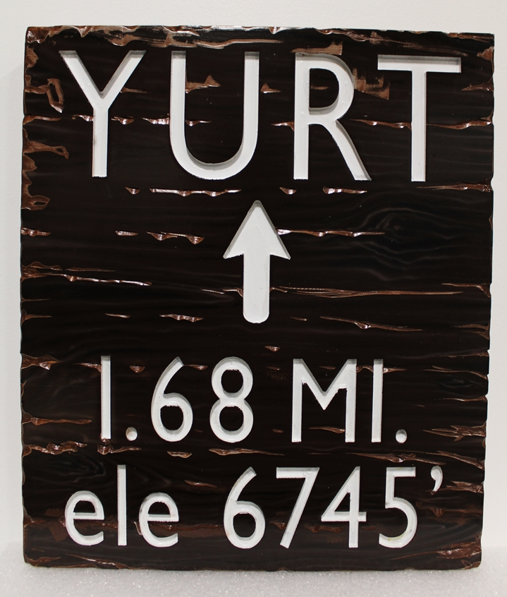 G18161 -  Engravedand sandblasted Cedar wood sign for a Bureau of Land Management Trail