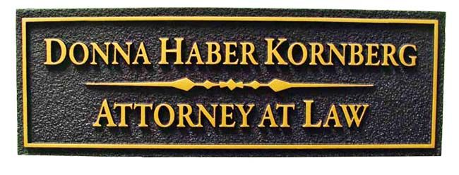 A10215 - Attorney Door or Wall Office Sign