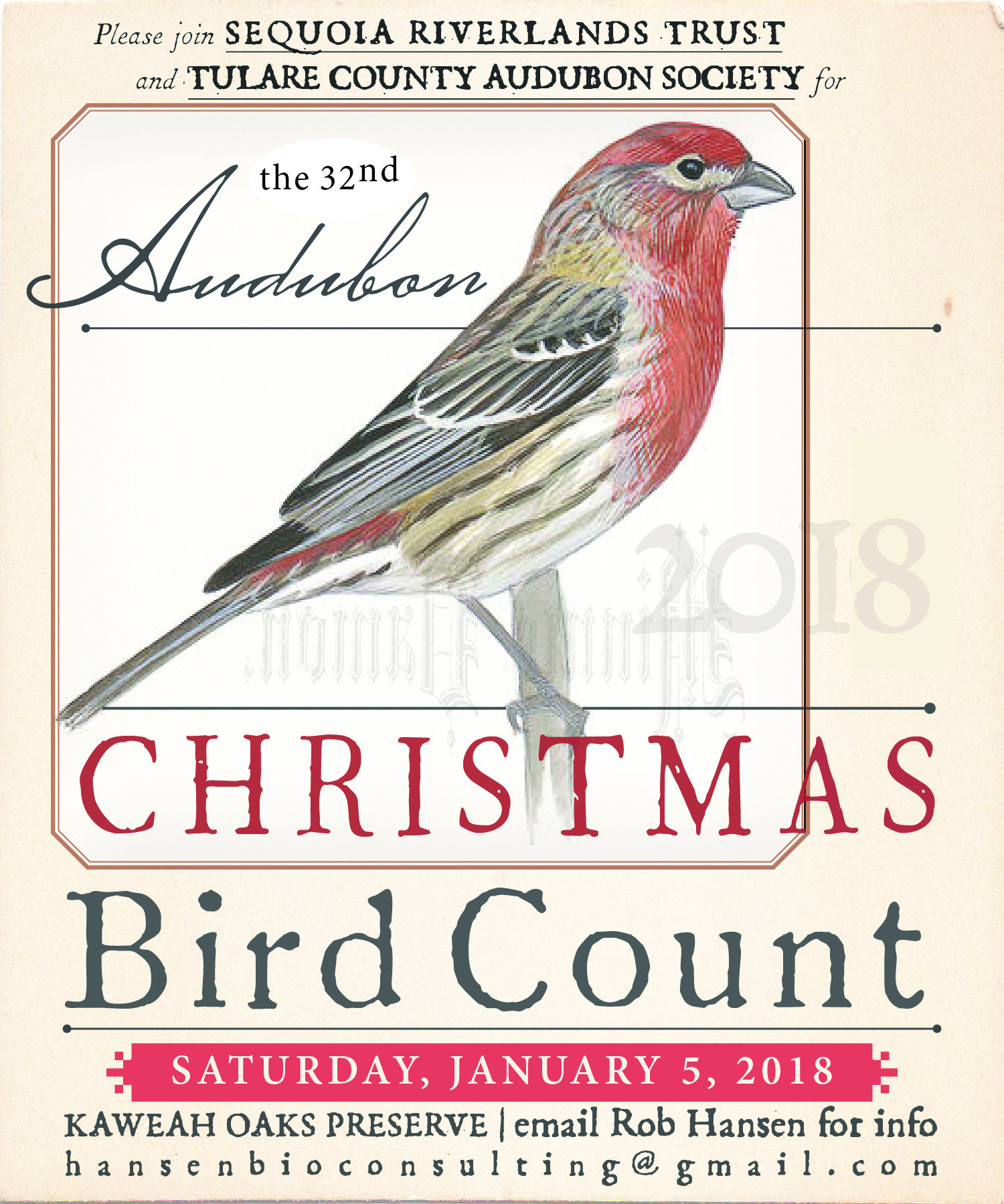SRT/Audubon Society 32nd Christmas Bird Count (click for time update)